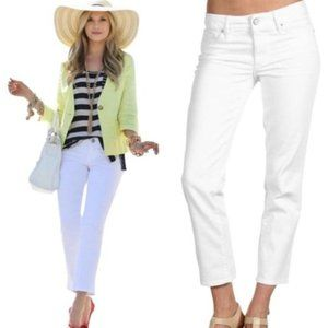 Lily Pulitzer White Palm Beach Slim Cropped Jean 6
